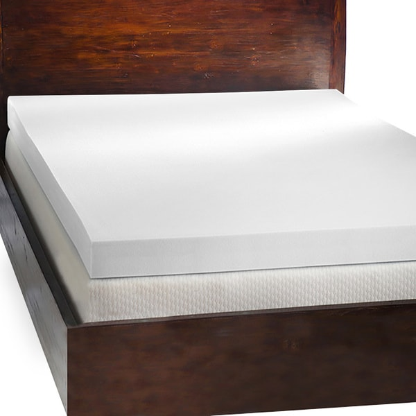 Comfort dreams 4 inch memory foam mattress topper with 2 contour pillows free shipping today 4 memory foam mattress topper
