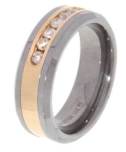 Tungsten/ 14k Gold Channel 1/2ct TDW Diamond Band (H-I, I2-I3)
