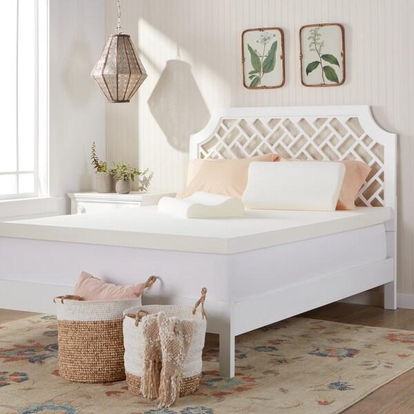 Comfort Dreams 3-inch Memory Foam Mattress Topper with Two Bonus Contour Pillows