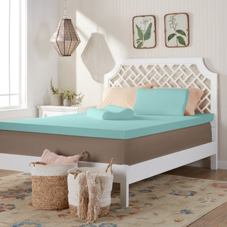Comfort Dreams 3-inch Memory Foam Mattress Topper with Two Bonus Contour Pillows