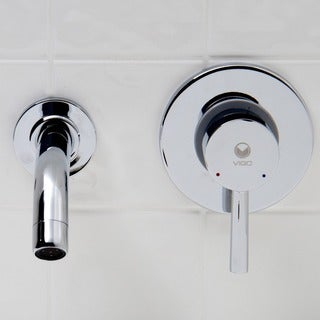 VIGO Olus Bathroom Wall Mount Faucet in Chrome