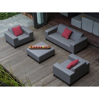 Beliani Rovigo Grey Fabric Outdoor Conversation Set