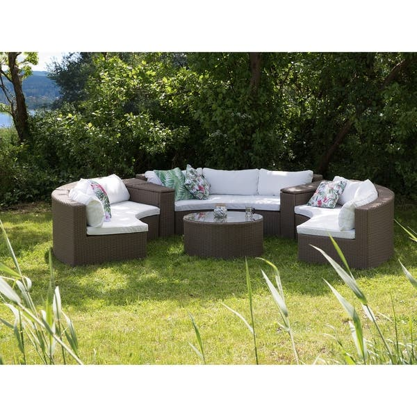 Fabulous Shop Curved Rattan Patio Conversation Set Severo Free Onthecornerstone Fun Painted Chair Ideas Images Onthecornerstoneorg