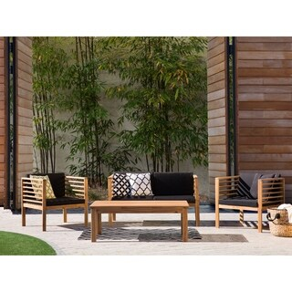 Beliani Pacific Acacia Wood Patio Conversation Set