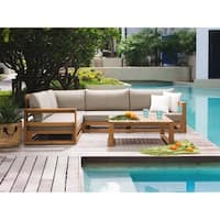 5- Piece Patio Conversation Set - Brown - TIMOR