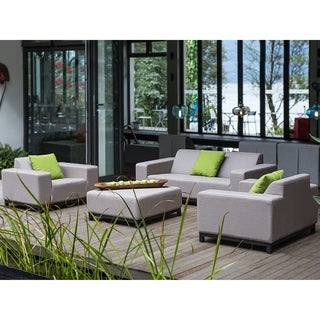 Beliani Rovigo Beige Sunbrella/Acrylic 4-piece Outdoor Conversation Set