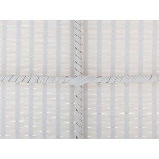 Beliani Sano White Wicker Patio Conversation Set with Cushions