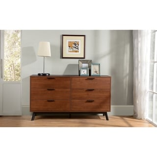 Homestar Westbrough Umber Dresser with 6 drawers