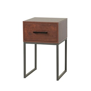 Homestar Jefferson Nightstand with 1 drawer in Reclaimed Cherry Finish