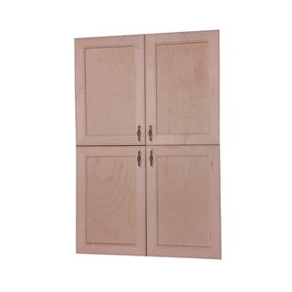 "36"" high Village BCH Recessed Four Door Frameless 18/18 Pantry cabinet 2.5""d"