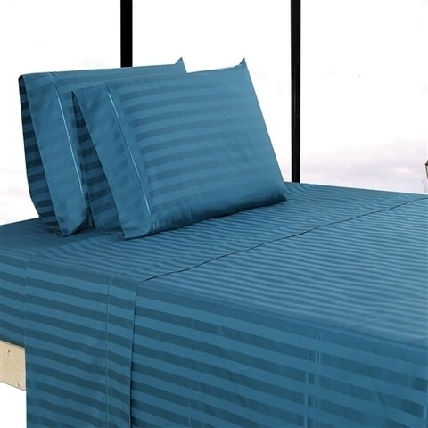 Affluence 500 Thread Count Striped Cotton Pillowcase Set