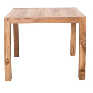 "CG Sparks Reclaimed Handmade 36"" Square Teak Kitchen Table (India) - Honey"