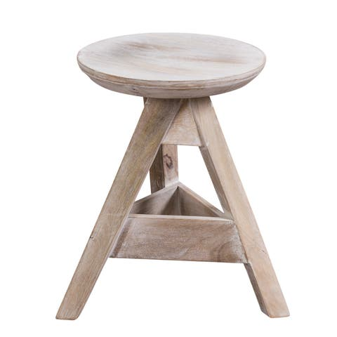 "CG Sparks Handmade Barrow 19"" Stool (India)"
