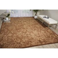 "Nourison Silken Allure Chocolate Wool Area Rug - 5'6"" x 8'"