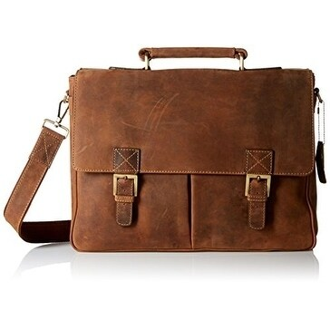 Visconti Berlin (18716) Leather Twin Buckle Briefcase wit...