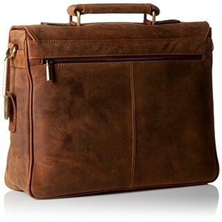 Visconti Berlin (18716) Leather Twin Buckle Briefcase with Detachable Strap (Option: Tan)