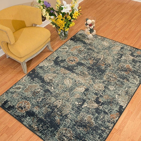 Westfield Home Sphinx Geneva Blue Area Rug 12 X27