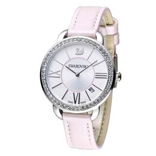 Swarovski Aila Silver Tone Dial Leather Strap Women's Watch 5182189