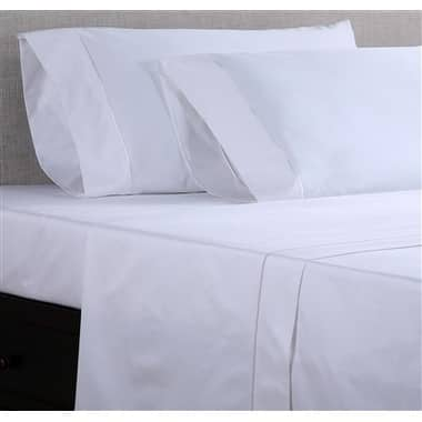 Affluence Hospitality 300 Cotton/Polyester Flat Sheets (Dozen Pack)