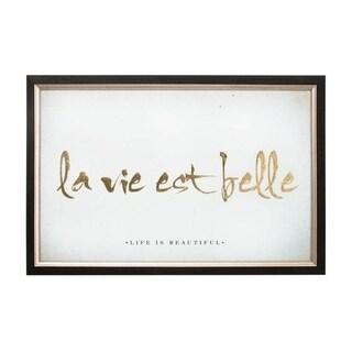 Graham & Brown La Vie Est Belle Metallic Framed Art