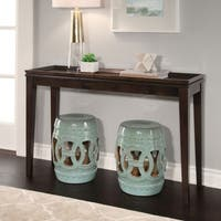 Abbyson Moroccan Antiqued Turquoise Garden Stool (Set of 2)