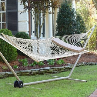 White Rope Hammock with Pillow