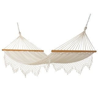 Castaway Capri Canvas Hammock with Fringe