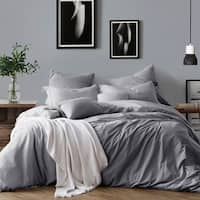 All Natural Prewashed Luxurous Soft Wrinkled Look Yarn Dye Cotton Chambray Duvet Cover Set