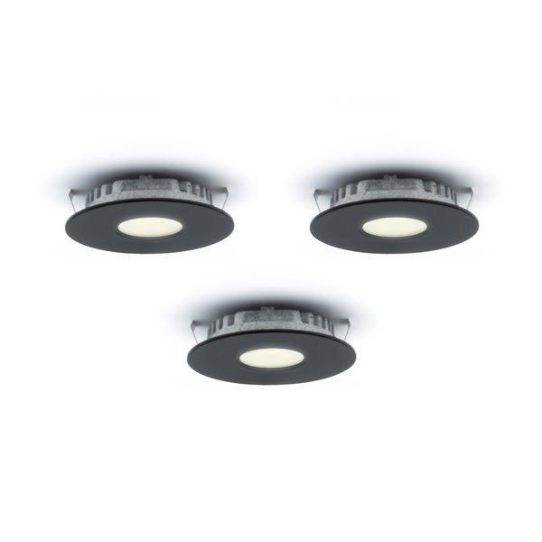 3 led recessed lighting 12 volt set of led super puck recessed lights free shipping today