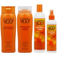 Cantu Moisturizing Shampoo, Rinse, Conditioning Creamy Lotion & Coconut Oil Mist Set