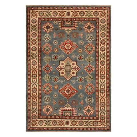 Handmade One-of-a-Kind Kazak Wool Rug (Afghanistan) - 4'1 x 6'