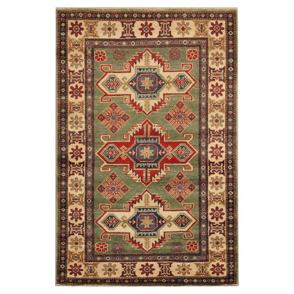Hand Knotted Persian Wool Area Rug 5 10: Shop Handmade Herat Oriental Afghan Hand-knotted Tribal