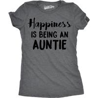 Womens Happiness Is Being an Auntie T shirt