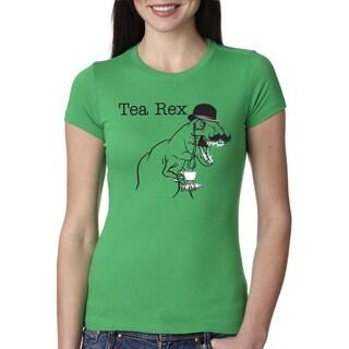 Women's Tea Rex T Shirt Funny Sarcastic Dinosaur Gentleman Monocle Tee