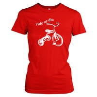 Women's Ride or Die Tricycle T-Shirt Funny Vintage Trike Shirt
