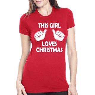 Womens This Girl Loves Christmas T Shirt
