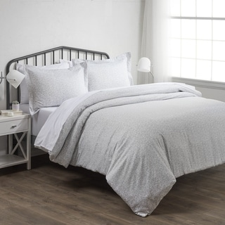 Merit Linens Premium 3 Piece Vine Trellis Print Duvet Cover Set