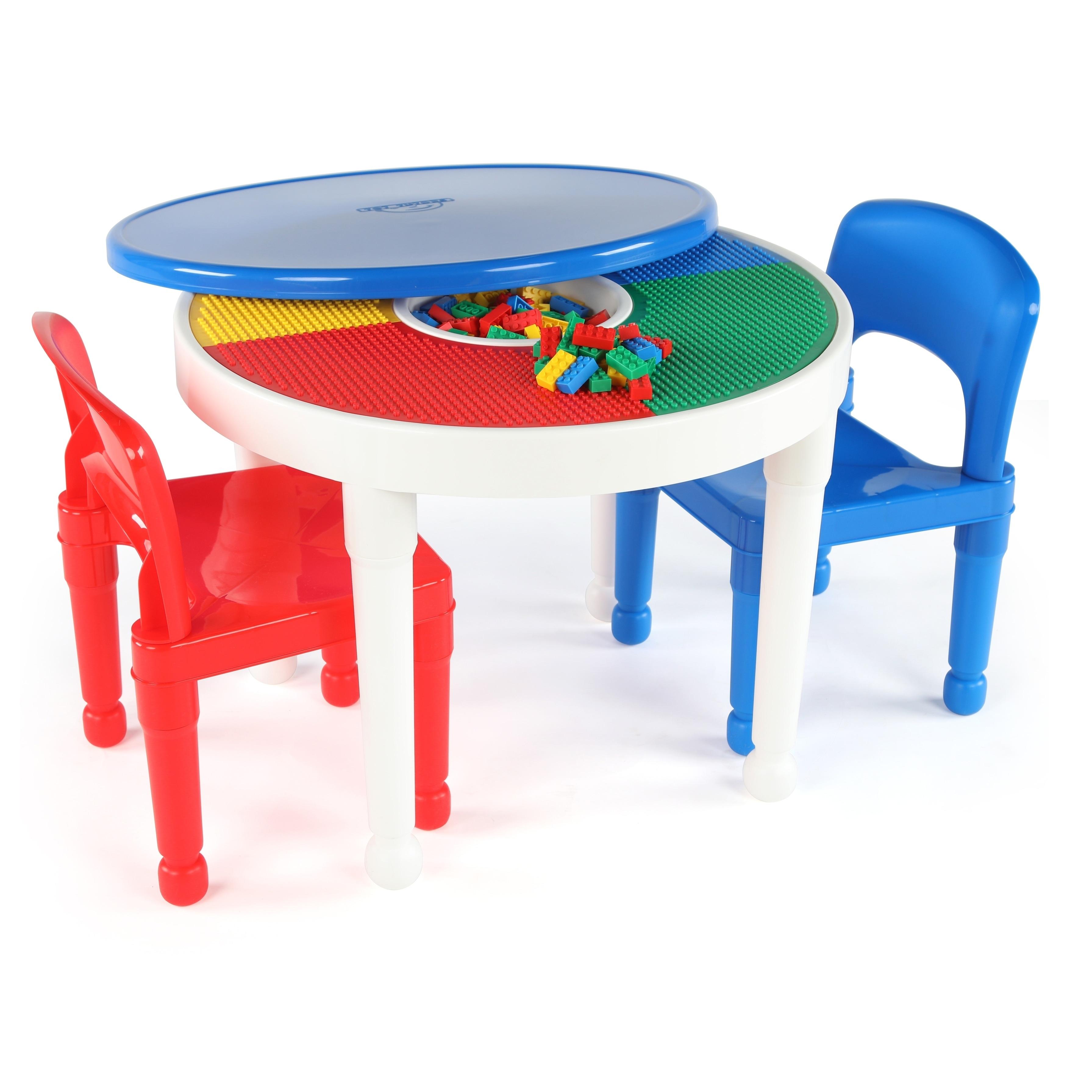 Lego Tot Tutors Kids 2-in-1 Plastic Activity Table & 2 Ch...
