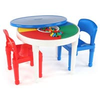 Tot Tutors Kids 2-in-1 Plastic Activity Table & 2 Chairs Set