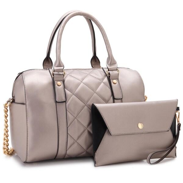 CLEARANCE SALEClearance SaleDark Brown Clutch Handbag Faux Leather Cocktail