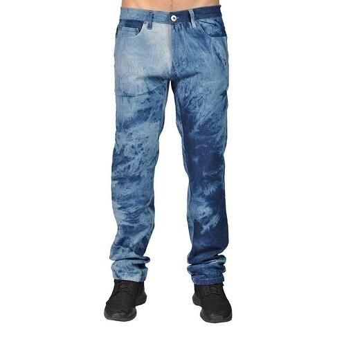 Dirty Robbers Men's Blue Acid Wash Denim Pants