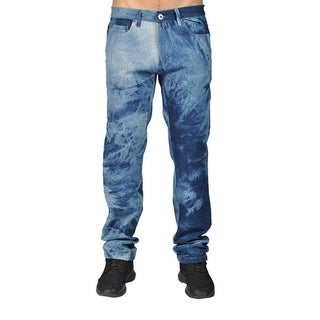 Dirty Robbers Men's Blue Acid Wash Denim Pants