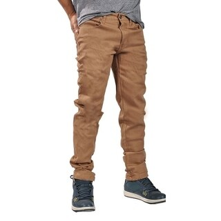 Dirty Robbers Mens Fashion Slim Fit Jeans Brown