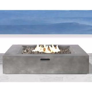 Santiago Concrete Propane Fire Pit Table (Charcoal)