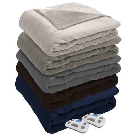 Serta Silky Plush Heated Electric Blanket