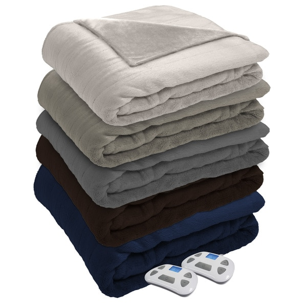Serta Silky Plush Heated Electric Blanket