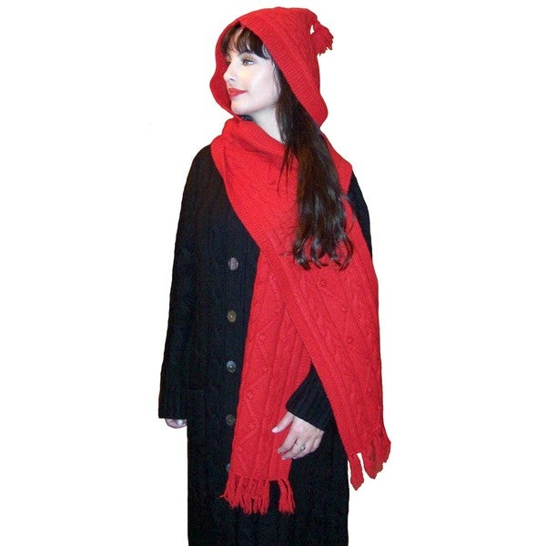 Dolores Piscotta Cable Hood Scarf