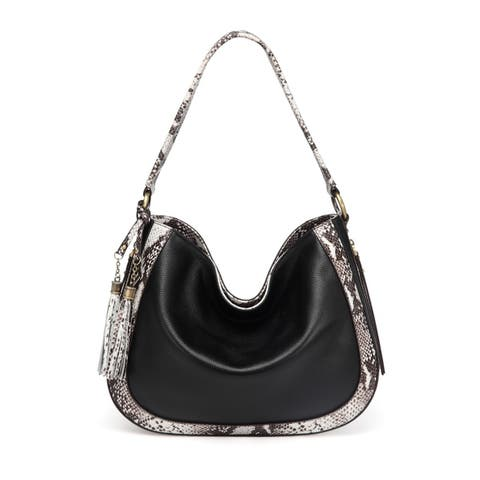 Cadence Snake Print Leather Bag by  No Copoun