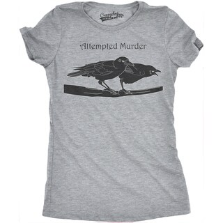 Women's Attempted Murder T Shirt Funny Crow Shirt Birds Tee for Women (5 options available)