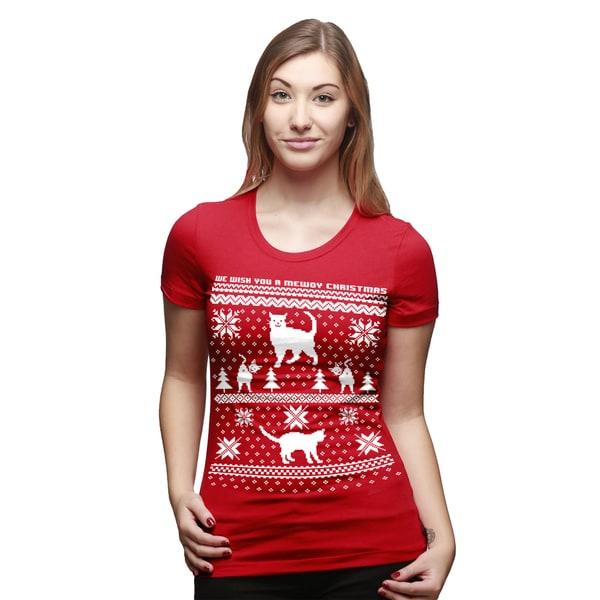 womens 8 bit cat butt t shirt funny ugly christmas sweater shirt - Funny Ugly Christmas Sweaters